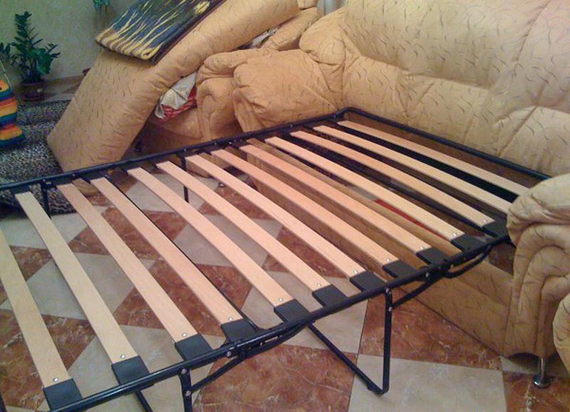 Ремонт французской раскладушки дивана своими руками